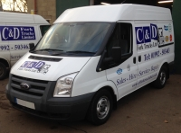 Professional, fully equip fleet of service vehicles.