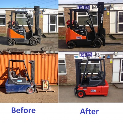 Refurb before after